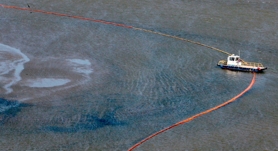 Oil Booms, Port East Gulf of Mexico