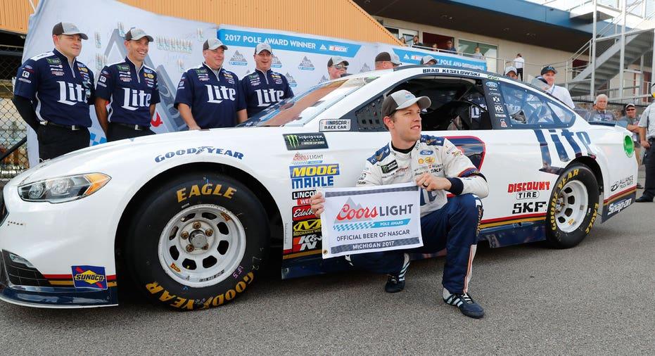 Brad Keselowski NASCAR FBN AP