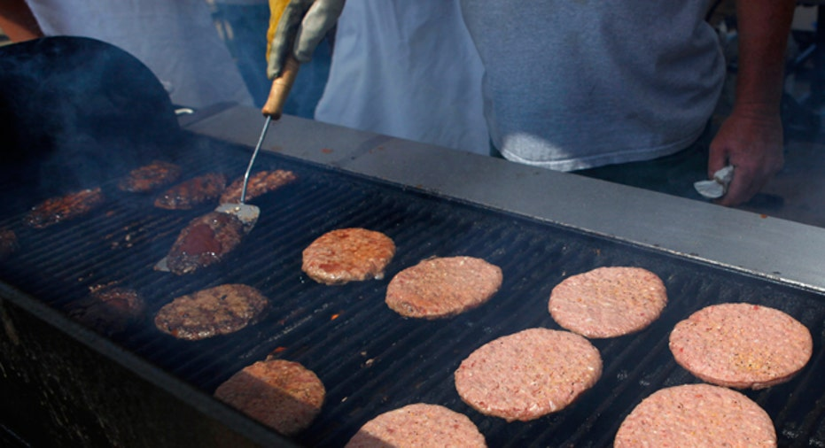 Burger meat on a Grill, Reuters