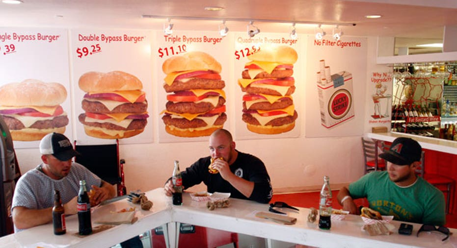 Patrons Dine at a Burger Restaurant Reuters