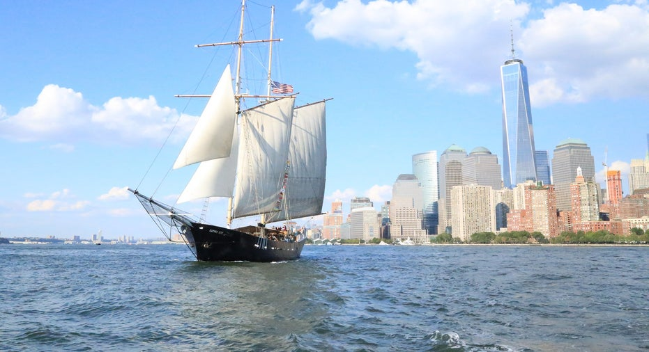 158' Event Sailboat in New York Harbor