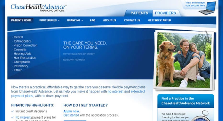 chase advance health website