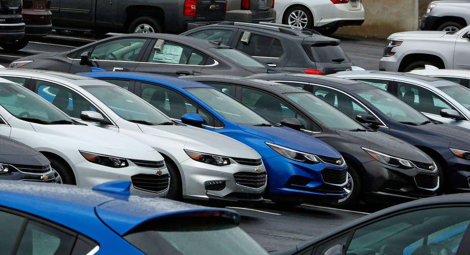 Chevrolet cars on dealership lot FBN AP