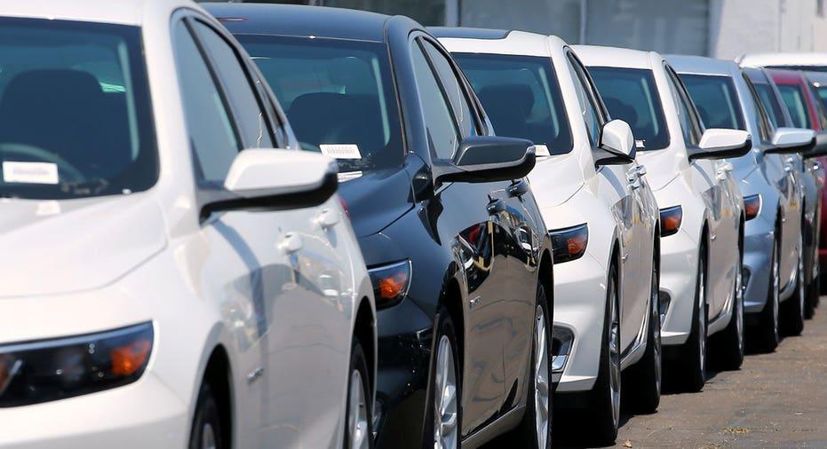 Chevrolet dealership cars lined up FBN