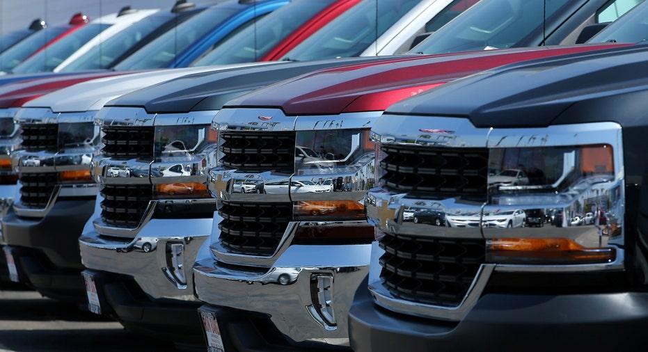 Chevrolet Silverado trucks at dealership FBN
