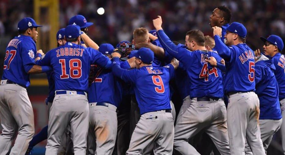 Cubs Win   Ken Blaze-USA TODAY Sports