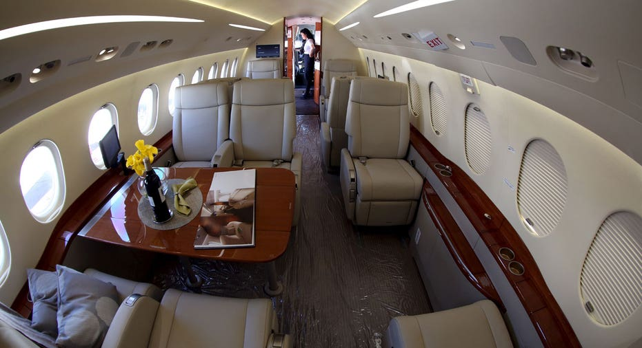 Private jet interior, business executive plane FBN