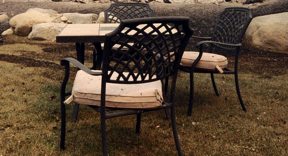 dirty patio furniture