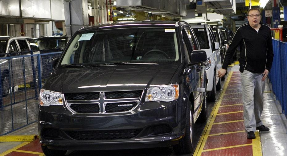 2011 Dodge Grand Caravan on assembly line Fiat Chrysler FBN