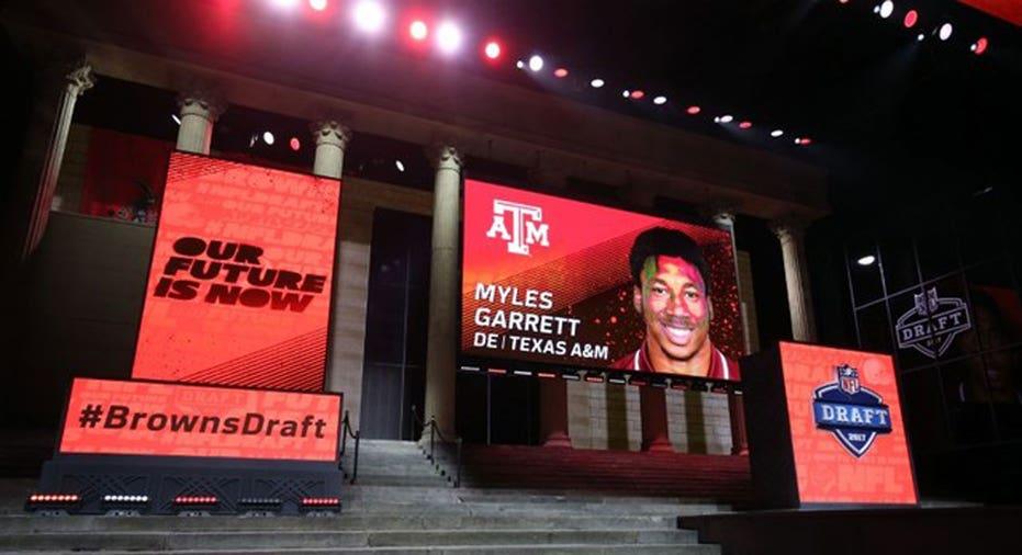 NFL Draft  Myles Garrett  . Bill Streicher-USA TODAY Sports
