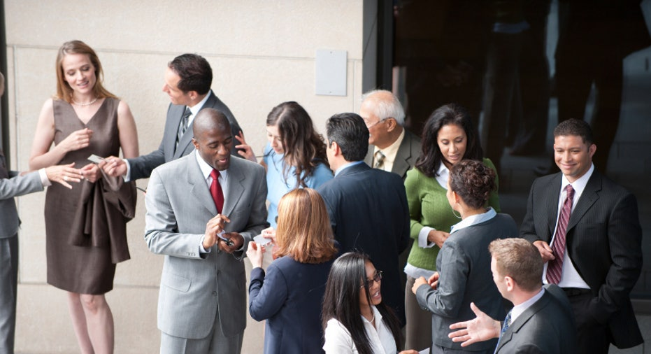 Business People at a Networking Gathering