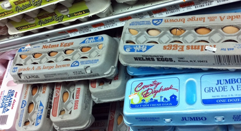 Eggs Supermarket Shelf