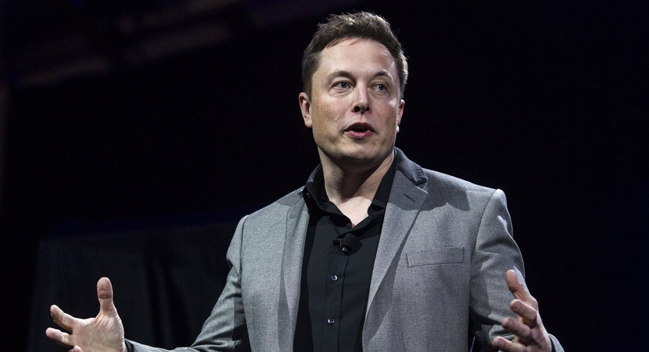 Elon Musk speaking Tesla SpaceX FBN AP