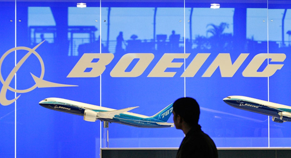 Boeing Logo and 787 Plane
