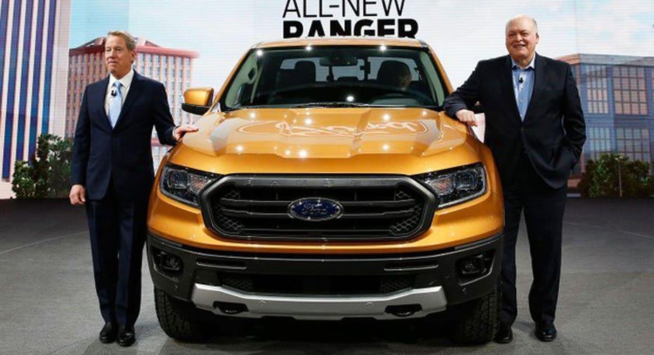 Ford Executives & Ranger  REUTERS/Rebecca Cook