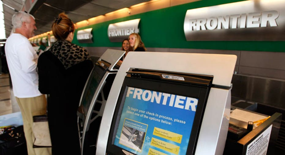 frontier airlines, travel, frontier, kiosk