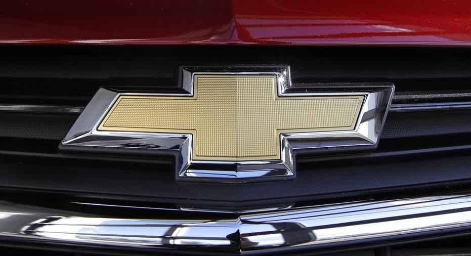 GM General Motors Chevrolet logo on Equinox grille FBN