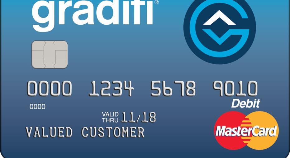 debit card, student loan, gradifi