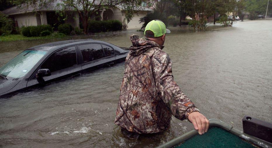 Hurricane Harvey flooded street FBN AP