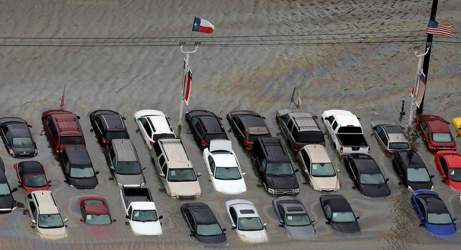 Hurricane Harvey flooded cars AP FBN