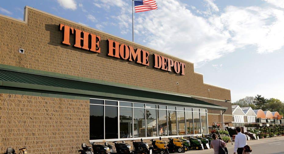 Home Depot store, lawn mowers FBN AP