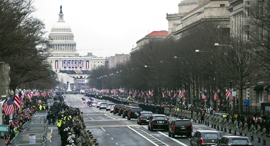 Inauguration 2017 Trump motorcade FBN