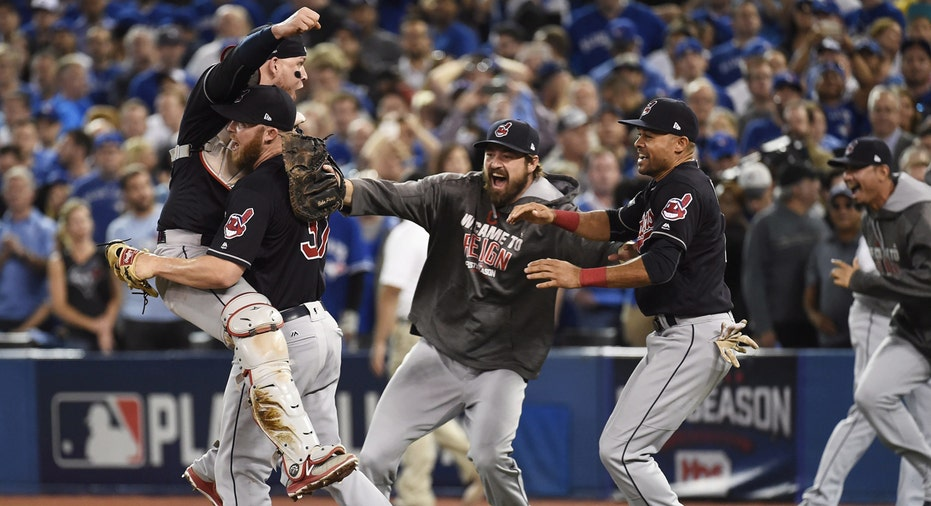 Indians celebrate ALCS clinch MLB FBN