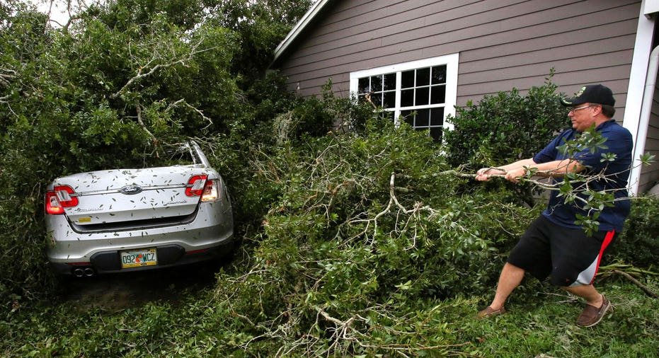 Hurricane Irma Florida fallen tree on car AP FBN