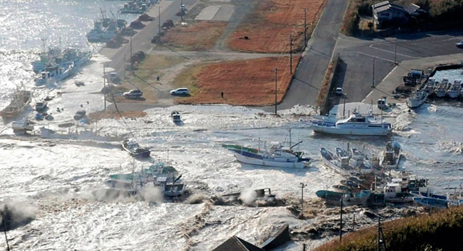 Boats Swept Away in Asahikawa City, Japan