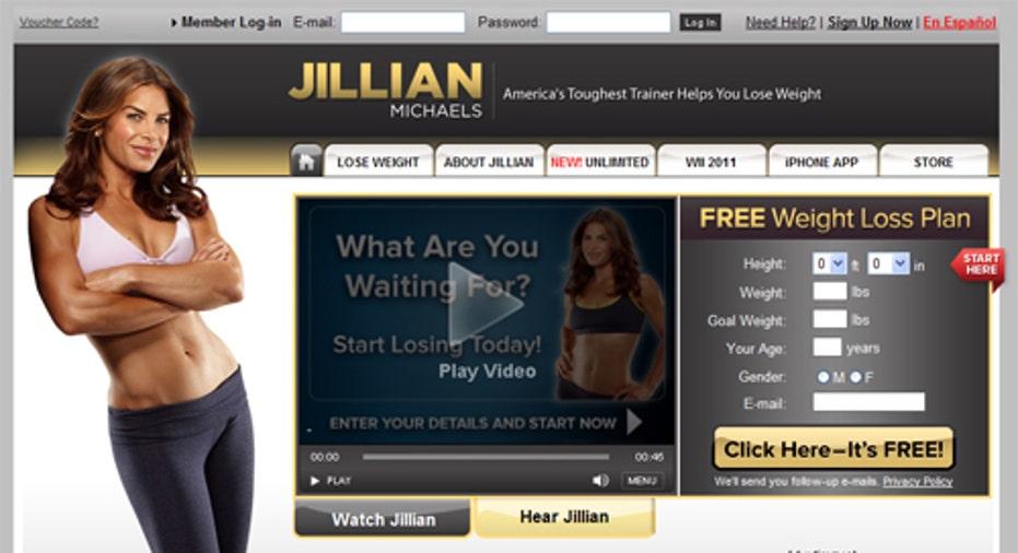 Jillian Michaels Homepage, PF Slideshow