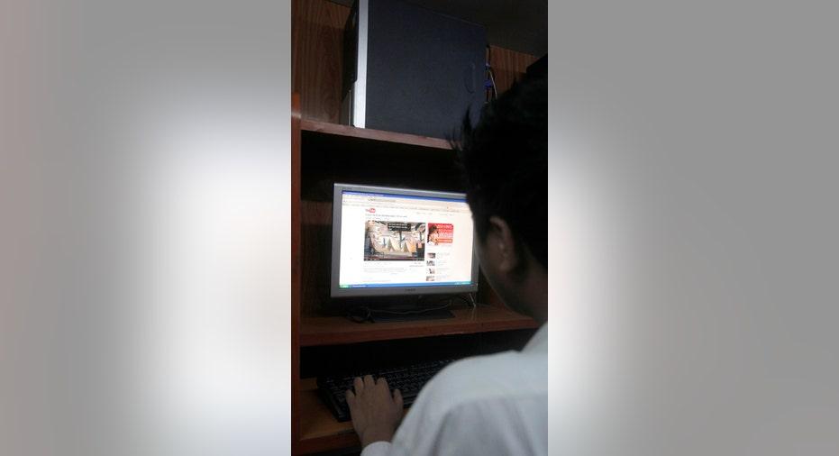Man Using YouTube