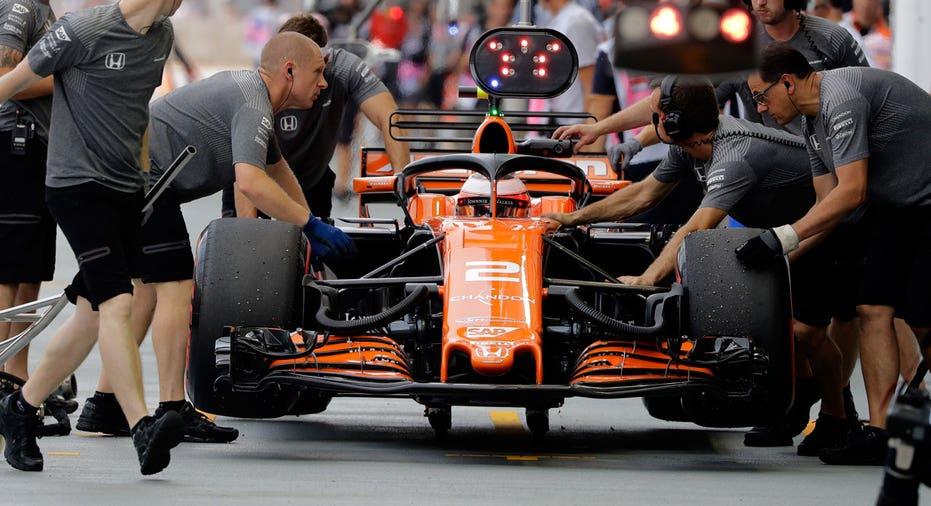 McLaren Formula 1 car AP FBN