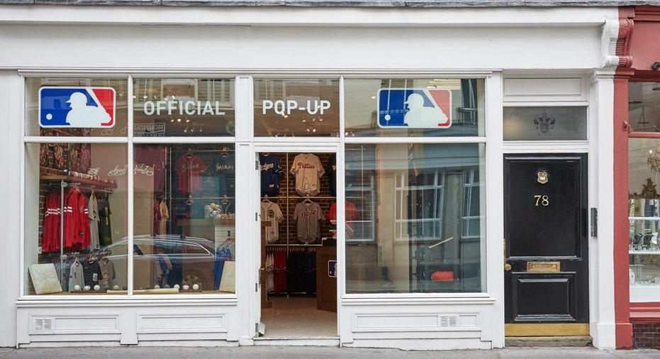 MLB London store outside FBN