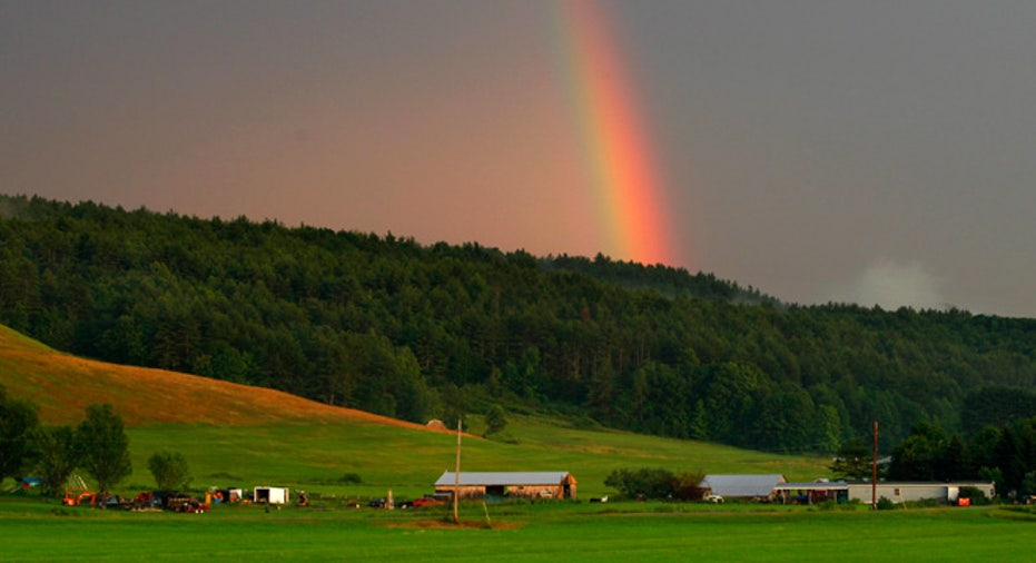 new hampshire, rainbow, farm, farming
