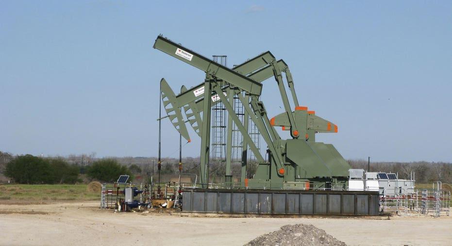 Oil rig, pumpjack, Eagle Ford FBN