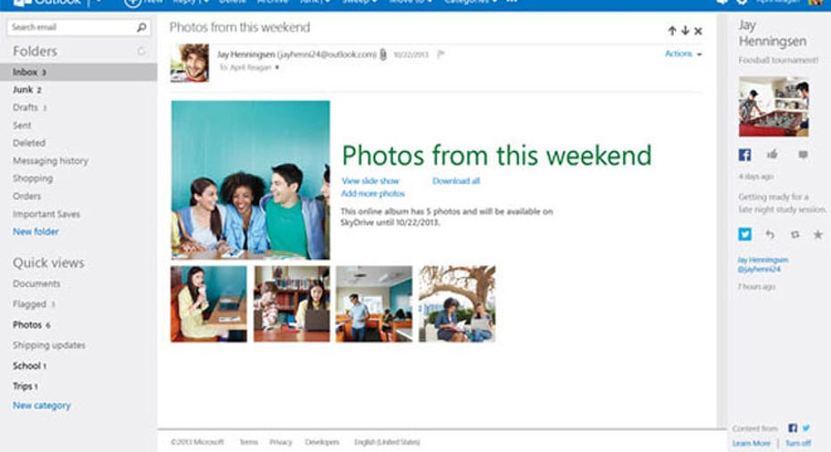 Microsoft Outllook, Outlook email