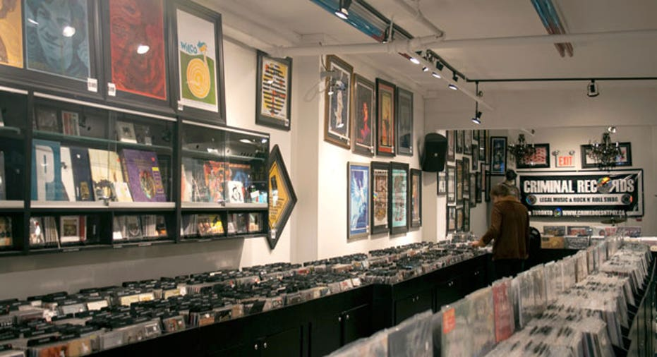 record store, music store