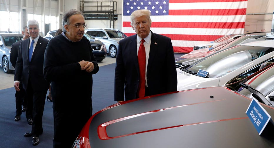 Sergio Marchionne with President Trump, Fiat Chrysler FBN