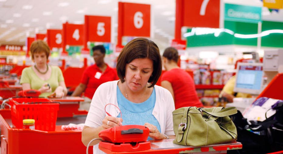 Shoppers at Target in Dallas