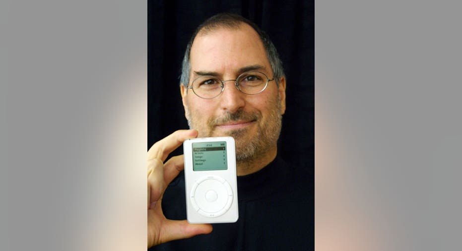 Steve Jobs Holds the iPod