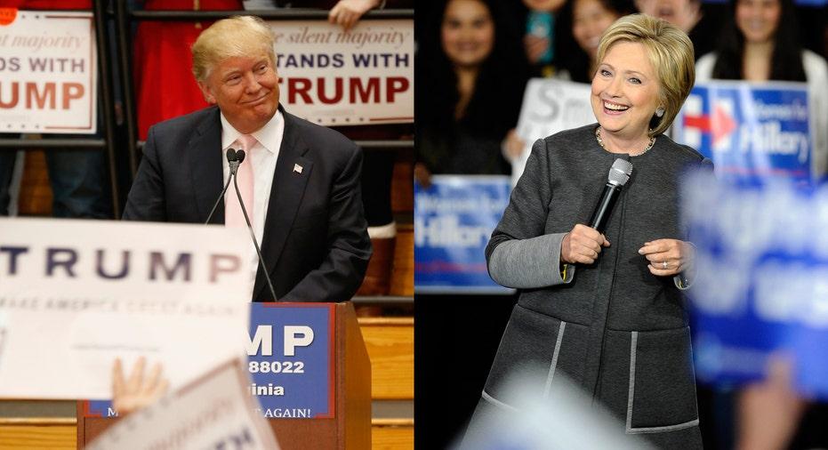 Donald Trump and Hillary Clinton FBN