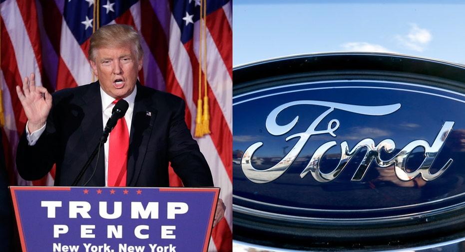 Donald Trump Ford logo FBN