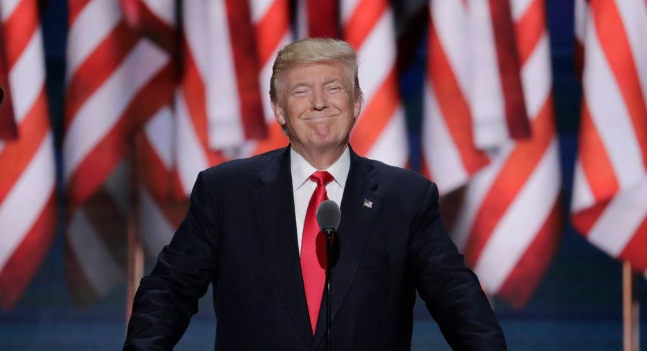 Donald Trump RNC smiles FBN