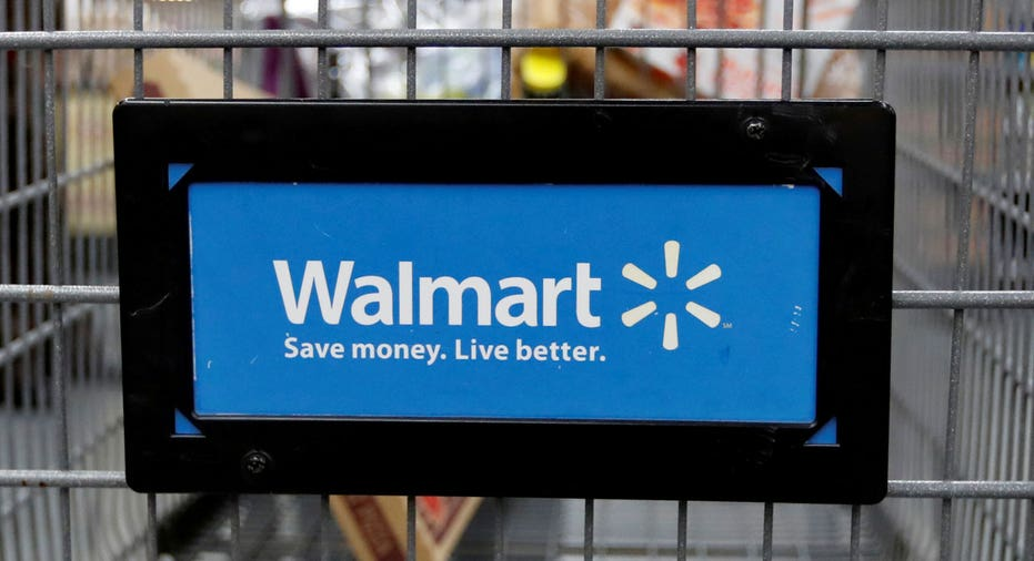 Walmart logo on shopping cart FBN