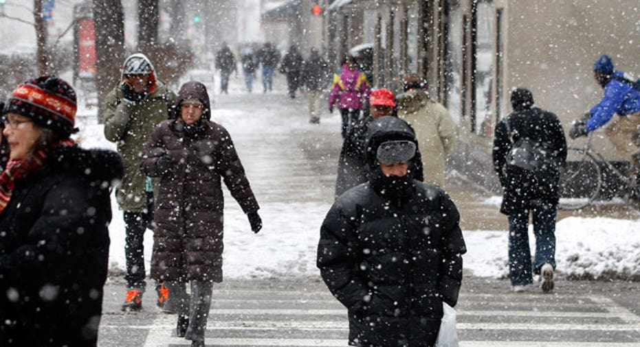 Winter Coats Pedestrians Walking, Reuters