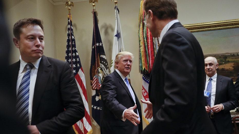 President Donald Trump meeting with CEOs Jan 2017 FBN