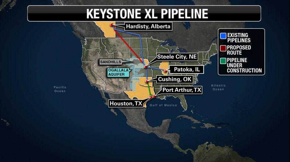 Keystone XL pipeline map FBN