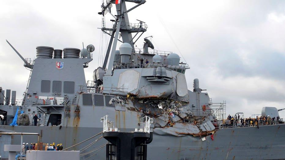 USS Fitzgerald damage 2 AP FBN