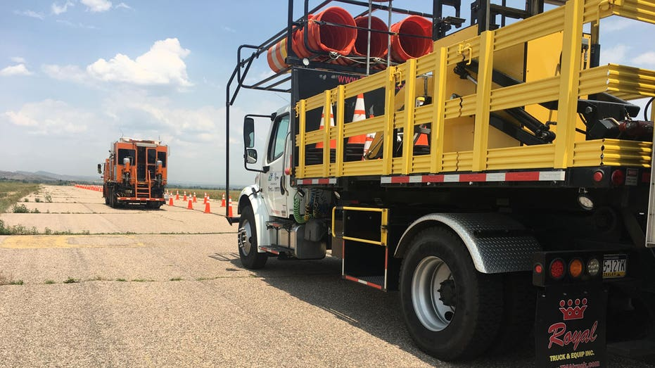 Autonomous crash truck rear view FBN