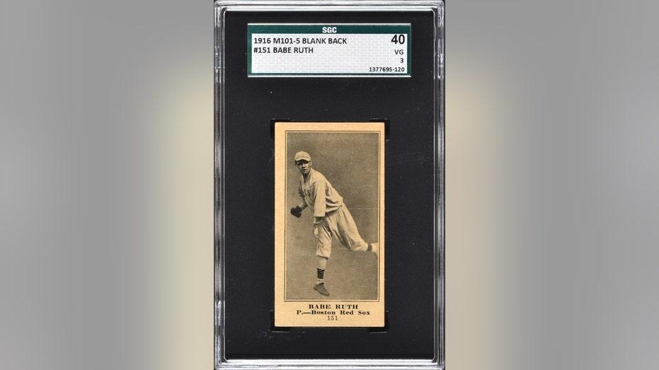 Babe Ruth card auction FBN